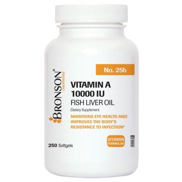 Витамин А 10 000 IU-Bronson